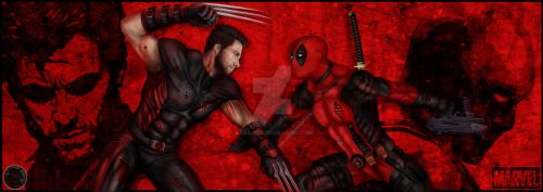 Wolverine vs Deadpool by Saxa-XCII