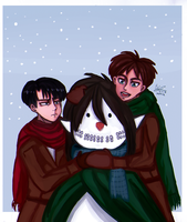 Ereri 7 P~ Miracle With Snow by barpink