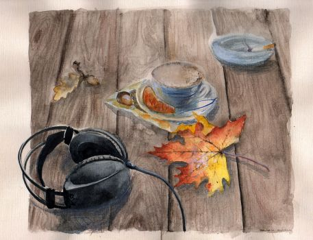 Autumn coffee by suhona