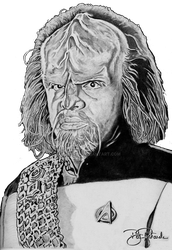 Worf (Michael Dorn) by B-Richards