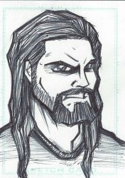 Sketch Card - Seth Rollins by emceelokey