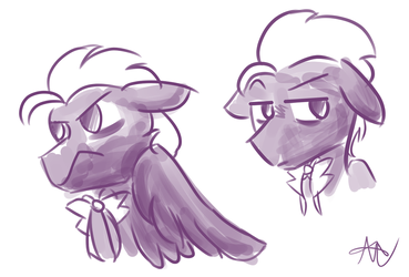 sketches of discorded dr. whooves by ZephyrArtz