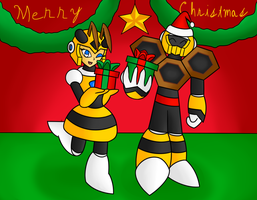 Robot Rumpus 2015: Hornet Man and Honey Woman by SnowmanEX711