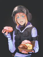 IQ with donuts by Korezky