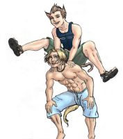 Anthropomorphic Boys At Play by M-Hydra