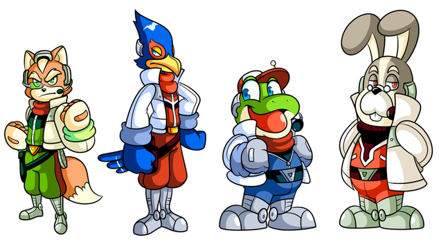 Commission?: It's the Star Fox Team by JamesmanTheRegenold