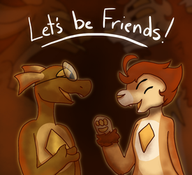 Lets be Friends : Art by TigToq