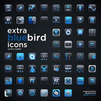Extra Bluebird Icons Set by linkmaster02
