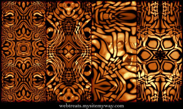 Molten Kaleidoscope Patterns by WebTreatsETC