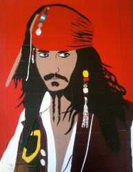 Jack Sparrow in duct tape by ratgirl407