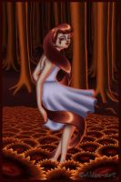 Color Girl - Maroon Cocoon 2nd Version by Alise-arts