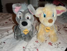 Scamp and Angel **FOR SALE** by ShinyToyDinosaurs