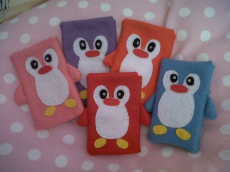 Penguin Phone Cases by xx-Cherry-Blossom-xx