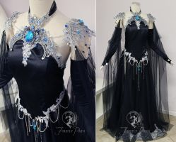 Shadow Sapphire Gown by Firefly-Path