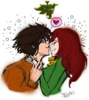 MerryKiss-mas DoodleWEE colour by wotcher17