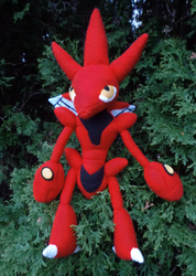 Scizor Plush by Sharsharkitty