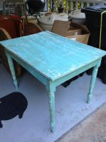 Old table saved from the basement. by Art-From-The-Id