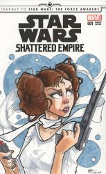 Star Wars: Shattered Empire Blank Cover by Pencilbags