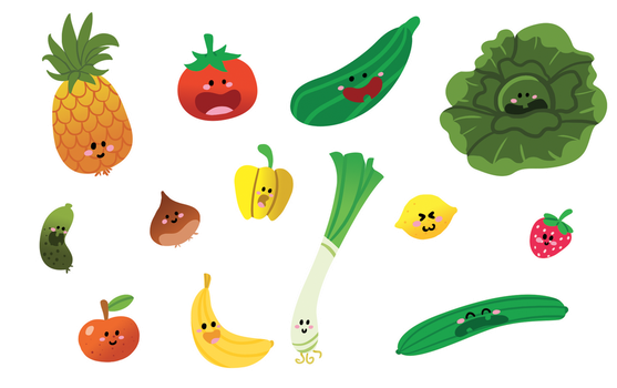 Fruits + Vegetables 1 by AmyBunny