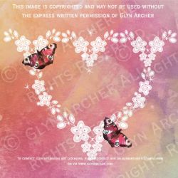 heart and butterflies WATERMARKED by GlynJA