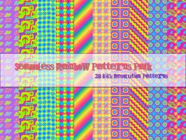 Seamless Rainbow Patterns Pack by powerpuffjazz