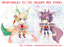[CLOSED] Adoptables 37/38: Sacred Arc Foxes by Staccatos