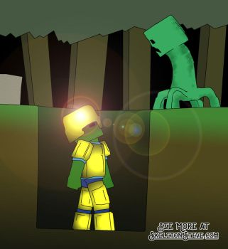 Minecraft Diary of a Creeper 05 by skeletonsteveco