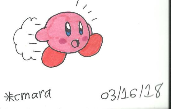 Kirby in a hurry by cmara