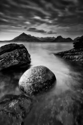 Elgol in Black and White by jeromeguastalla