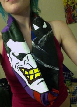 Joker and Batman scarf for sale. by mch2020moehunt