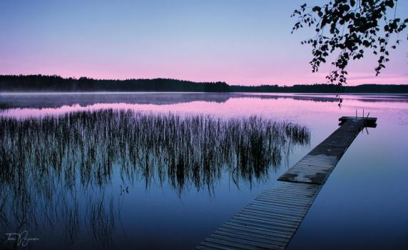 Evening Lake by Pajunen