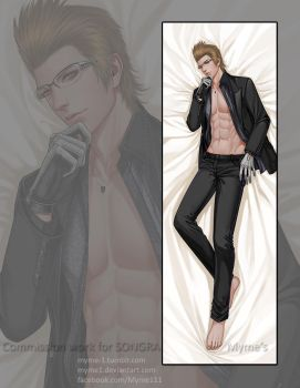 Dakimakura commission - Ignis Scientia by Myme1