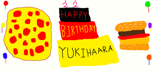 HAPPY BIRTHDAY, YUKIHAARA!!!!! by Kingnewcomer
