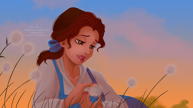 Draw this Disney :: Belle by AdlezAxel
