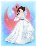 Disney Princess Leia by bewareitbites