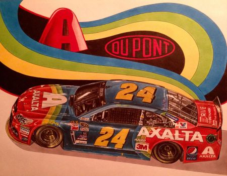Jeff Gordon 2015 Axalta Rainbow Car by JonOwens