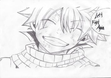 Natsu 'Let's Fight Again' by BloodyVampress44