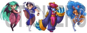Capcom Stickers by peach-mork