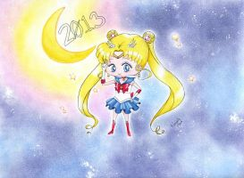Chibi Sailor Moon by PrincessLaguia