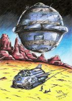 Perry Rhodan - Shift and Spaceship by Tadeu-Costa