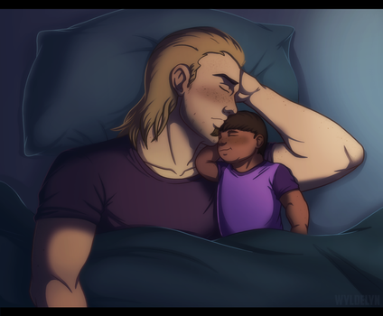 Dream Daddy - Napping With Pops by WyldeElyn