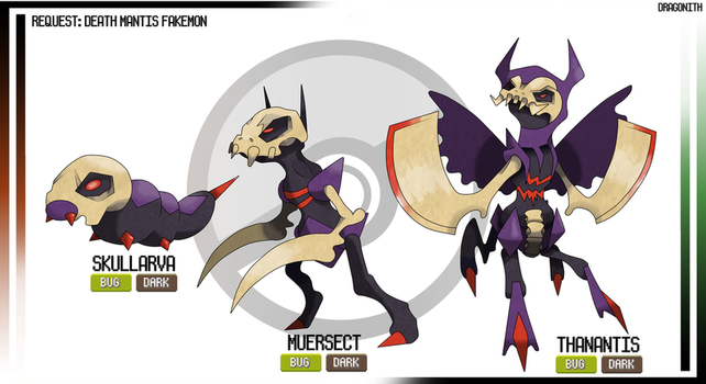 Request - Death Mantis Fakemon by Dragonith