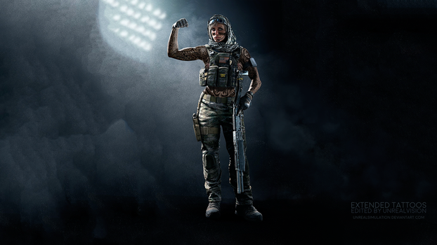 Valkyrie-R6-ExtendedTattoos-ByUnrealVision-Sub. by UnrealSimulation