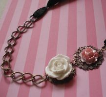 Romantic Rose Ribbon Necklace by FatallyFeminine