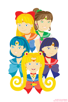 the Sailor Guardians. by artistang-kamote12