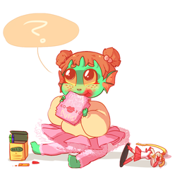 teething monster bab by kyoukorpse