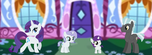 MLP Rarity And Lane Familly by GalaxySwirlsYT
