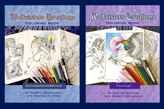 Wolfsisters Coloring books by ssantara