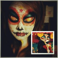 the book of life facepaint by woojininha