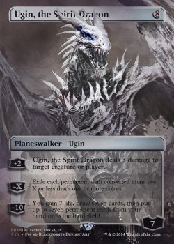 Magic the Gathering - Ugin, the Spirit Dragon by ASliceOfUnagi